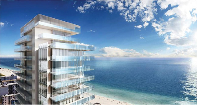 Glass Miami Beach Residences 120 Ocean Drive